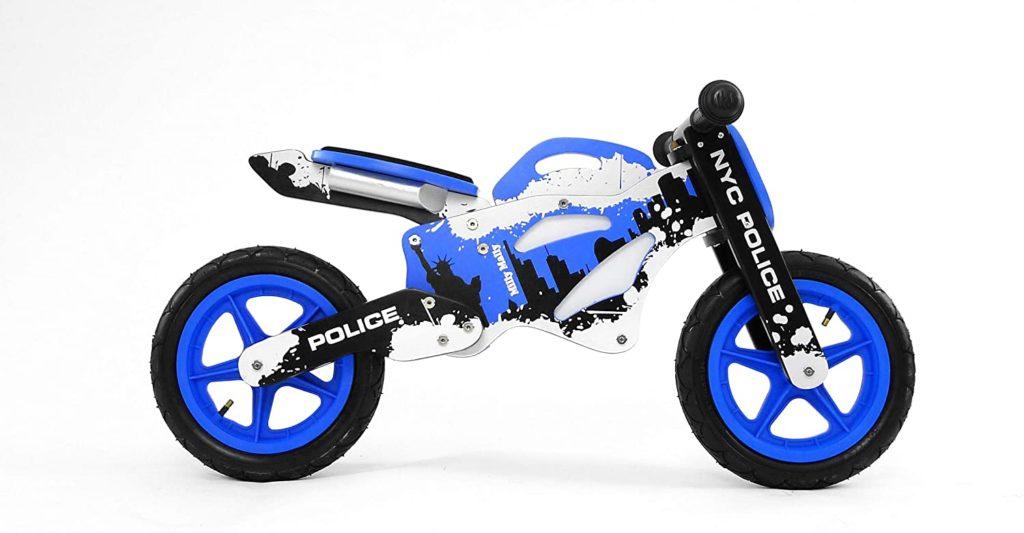 Draisienne bois moto de la police