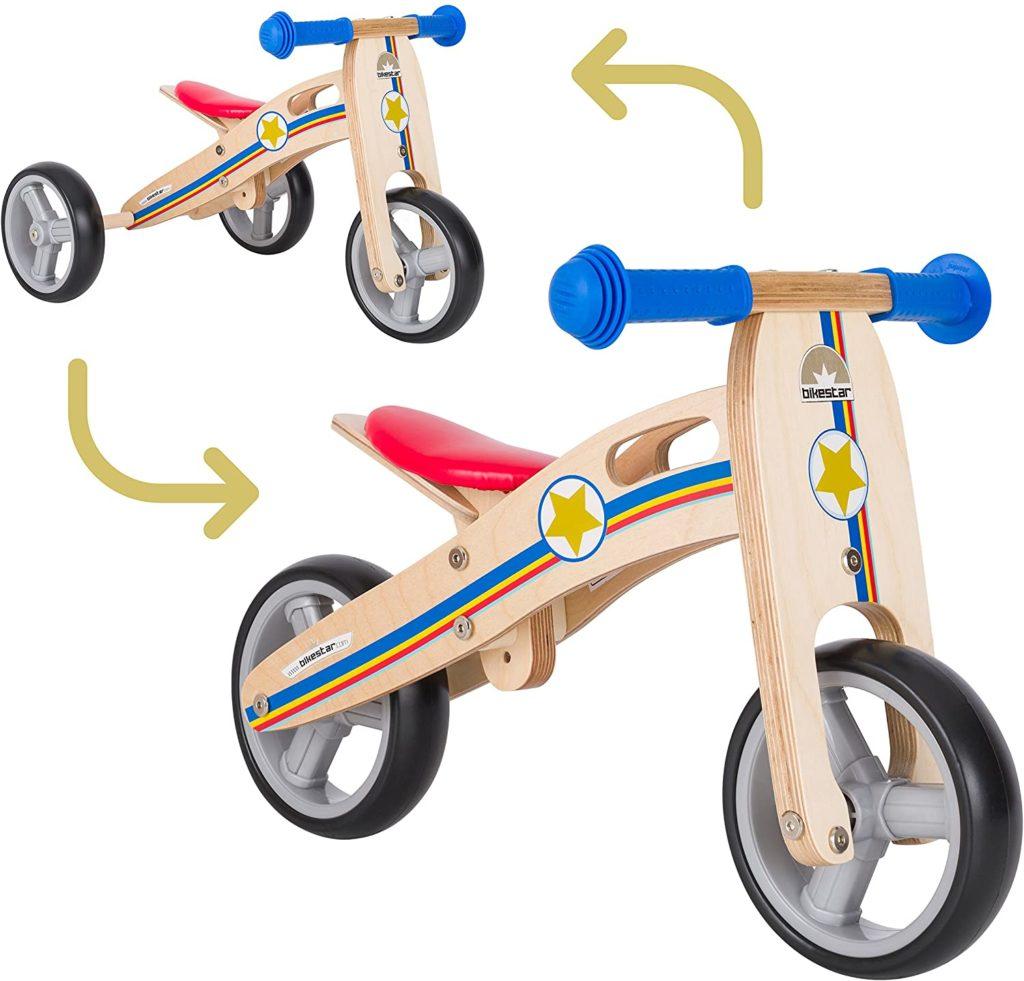 draisienne évolutive en bois bikestar 2 ans